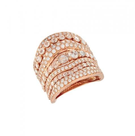 PINK GOLD K18 WITH DIAMONDS